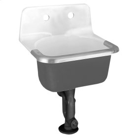 Lakewell Cast Iron Wall Mounted Service Sink - White