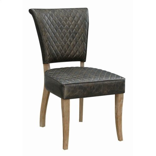 Contemporary Rustic Amber Dining Chair