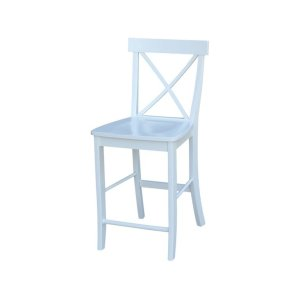 JOHN THOMAS FURNITURE24'' X Back Stool in Pure White