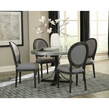 Rochelle Grey Oval Back Dining Chair