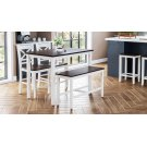 Asbury Park 4-pack - Counter Table With 2 Stools and Bench - White /autumn Product Image