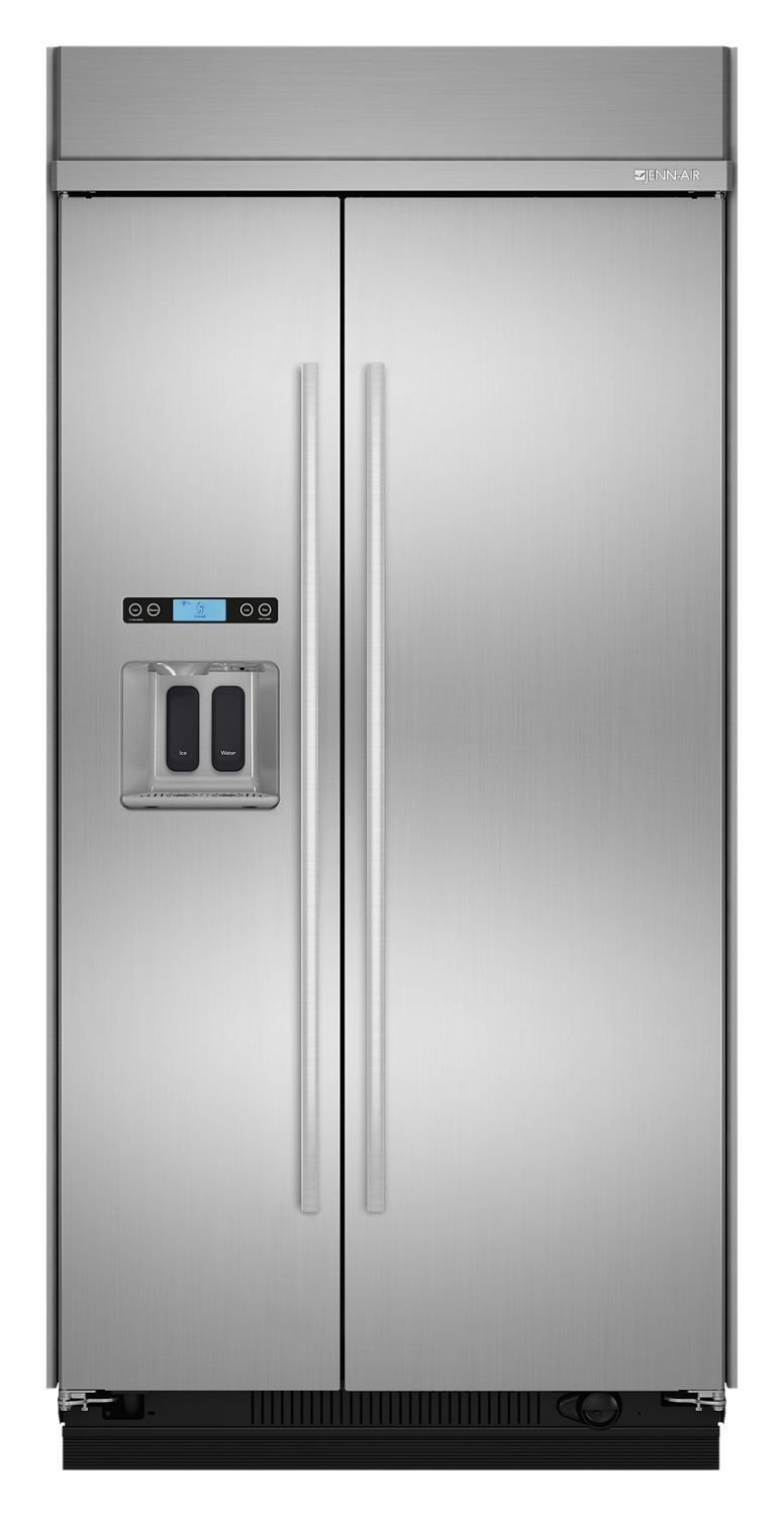 """Jennair42"""" Built-In Side-By-Side Refrigerator With Water Dispenser Stainless Steel"""