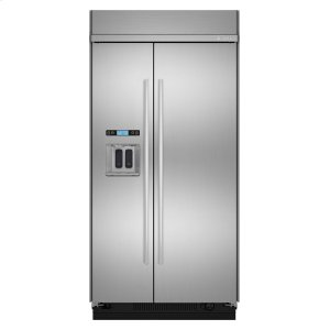 "JennAir42"" Built-In Side-by-Side Refrigerator with Water Dispenser Stainless Steel"