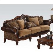 Bonded Leather/chenille Sofa Product Image