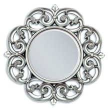 "SILVER ACCENT MIRROR, 30""D"