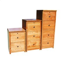 "A-S646 Shaker Alder 2-Drawer Locking Vertical File Cabinet, 21""W x 21""D x 30""H"