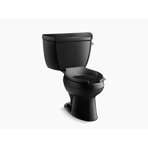 Black Black Classic Two-piece Elongated 1.6 Gpf Toilet With Pressure Lite Flush Technology and Right-hand Trip Lever, Less Seat