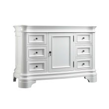 "Le Manns 48"" Bathroom Vanity Cabinet Base in Cream"