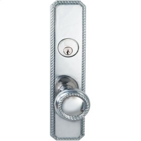 Exterior Traditional Mortise Entrance Knob Lockset with Plates in (US26 Polished Chrome Plated)