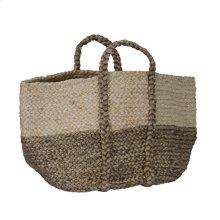 Jute Basket Ivory/Gray