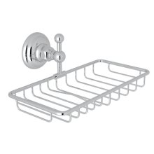 Polished Chrome Italian Bath Wall Mount Double Soap Holder Basket