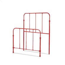 Nolan Fashion Kids Metal Headboard and Footboard Bed Panels with Fun Versatile Design, Candy Red Finish, Twin