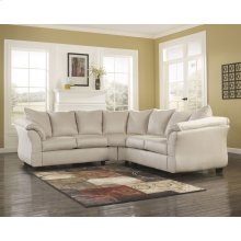 Signature Design by Ashley Darcy Sectional in Stone Microfiber
