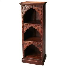 Add classic style with a twist of the East to your space with the Mihrab book case. Crafted out of solid mango wood, this sturdy book case will display all your collectables and act as storage.