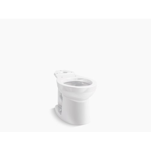 White Round-front Toilet Bowl, Seat Not Included