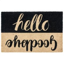 Doormat Hello Goodbye Black 24x36