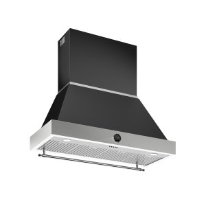Bertazzoni48 Wallmount Canopy and Base Hood, 1 motor 600 CFM Matt Black