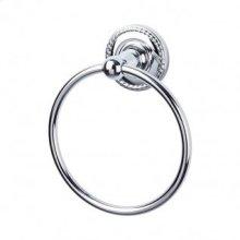 Edwardian Bath Ring Rope Backplate - Polished Chrome