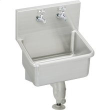"""Elkay Stainless Steel 25"""" x 19-1/2"""" x 12, Wall Hung Service Sink Kit"""