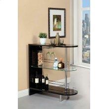 Contemporary Glossy Black Bar Table