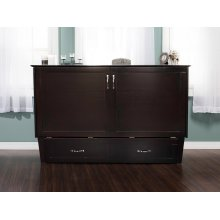 Madison Murphy Bed Chest Queen Espresso with Charging Station