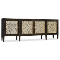 Living Room Sanctuary Four Door Mirrored Console- Ebony Product Image