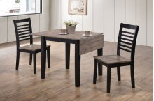 5014 Hampton 3PC Drop-Leaf Dining Set; Table & 2 Chairs