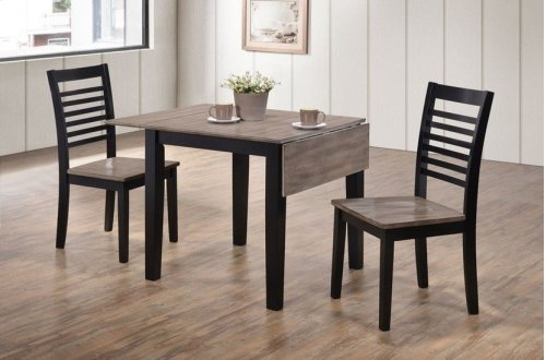 5014 Hampton 3PC Drop-Leaf Dining Set; Table & 2 Chairs