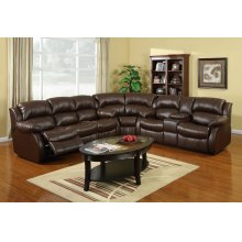 Kaden Brown Leather Reclining Sectional