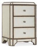 Bedroom Arabella Mirrored Three-Drawer Nightstand Product Image