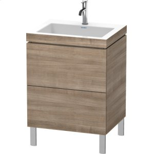 Furniture Washbasin C-bonded With Vanity Floorstanding, Ticino Cherry Tree (decor)