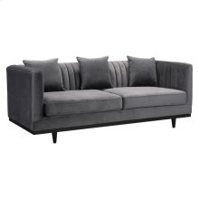 Garland Sofa Gray Velvet