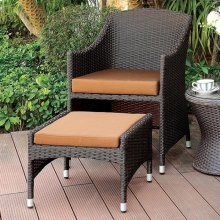 Almada Arm Chair W/ Nesting Ottoman