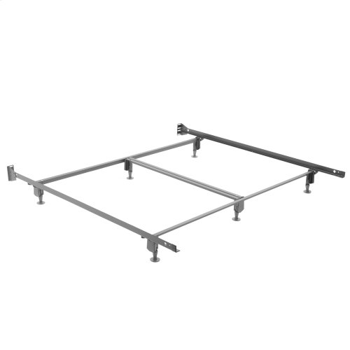 Inst-A-Matic Hospitality H774G Bed Frame with Fixed Headboard Brackets and (6) 2-Piece Glide Legs, Hotel King