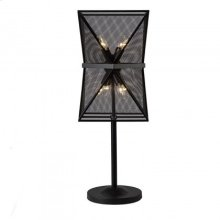 Troy Table Lamp/Metal/Black Finish/11*11*33.5