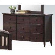 Dk Walnut Dresser W/6 Drawers Product Image