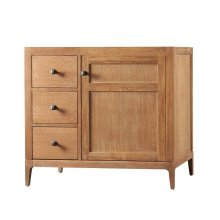 "Briella 36"" Bathroom Vanity Cabinet Base in Vintage Honey - Door on Right"