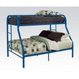 Blue Twin/queen Bunk Bed Product Image