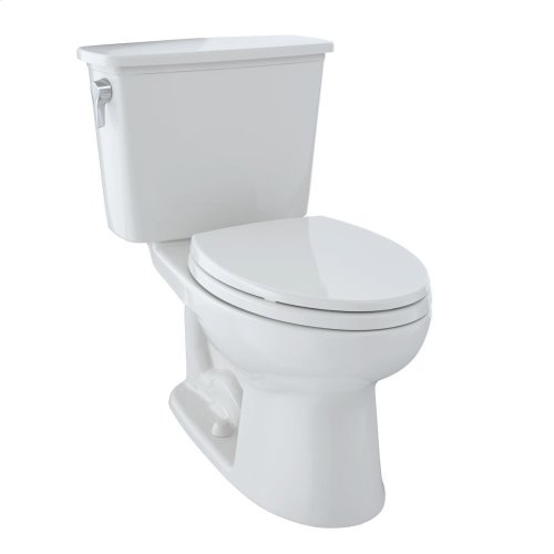 Eco Drake® Transitional Two-Piece Toilet, 1.28 GPF, Elongated Bowl - Colonial White