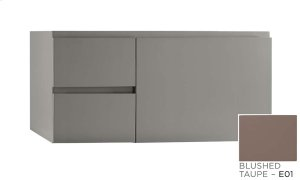 """Vanessa 36"""" Wall Mount Bathroom Vanity Base Cabinet in Blush Taupe - Large Drawer on Right Product Image"""