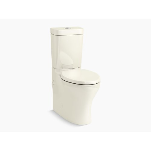 Biscuit Comfort Height Two-piece Elongated Dual-flush Toilet With Top-mount Actuator and Skirted Trapway, Seat Not Included