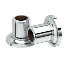 Tiara Shower Rod Ends in Chrome