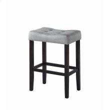 Casual Grey Upholstered Bar Stool