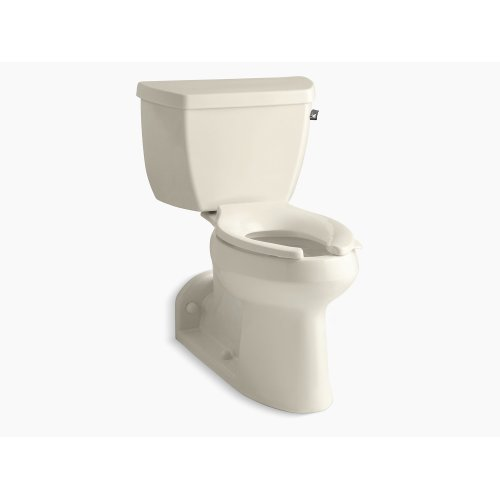 Almond Comfort Height Two-piece Elongated 1.0 Gpf Toilet With Pressure Lite Flushing Technology and Right-hand Trip Lever