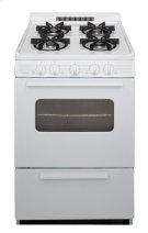 24 in. Freestanding Battery-Generated Spark Ignition Gas Range in White Product Image