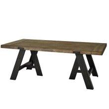 Dining Table - Sandalwood/Black Finish