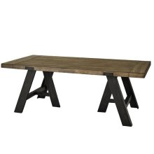 Dining Table - Sandalwood/Black Finish