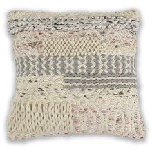 "Pillow L333 Ivory/blush Cabo 18"" X 18"""