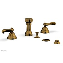 REVERE & SAVANNAH Four Hole Bidet Set D4102 - French Brass