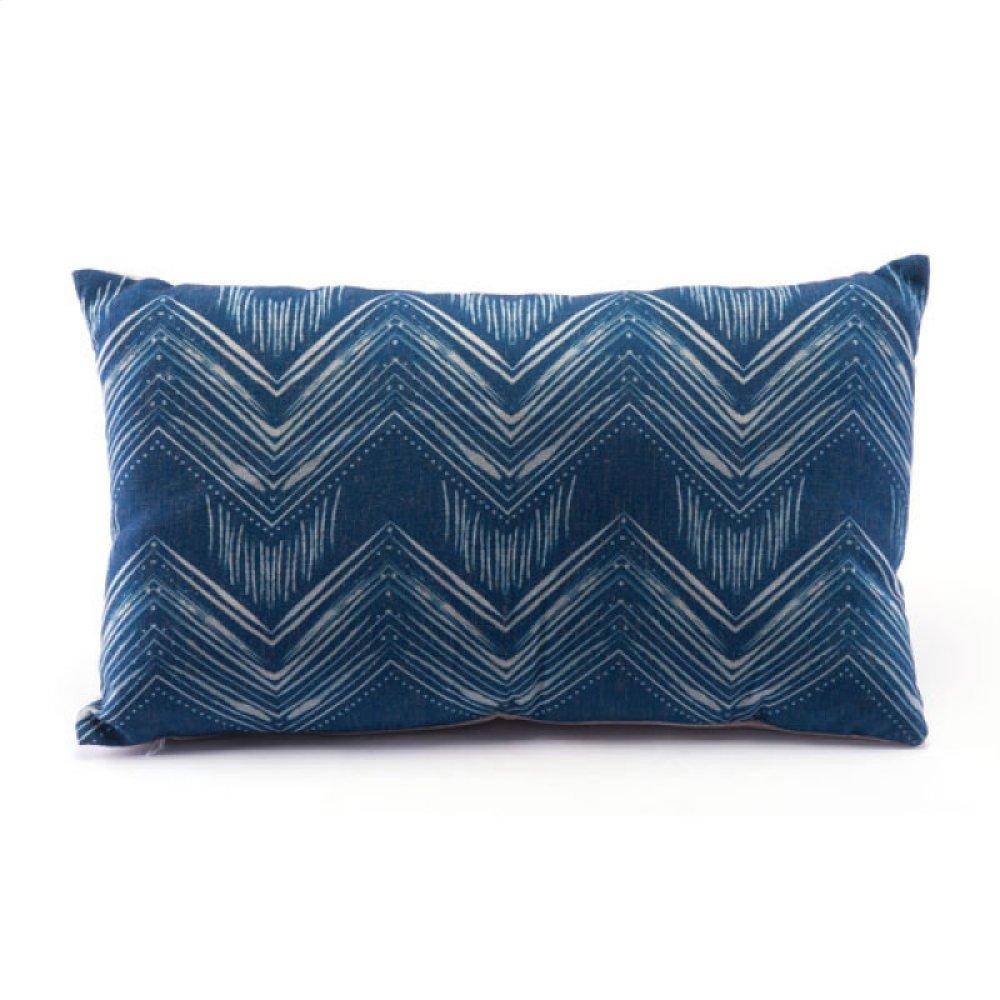 Ikat Pillow 3 Blue & Natural